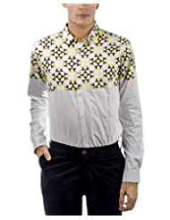 I AM TROUBLE BY KC Men's Button Front Shirt - B00XYFM3NA