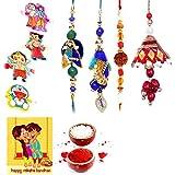 Gomati Ethnic Designer Ethnic 8 Pc Family Special Rakhi Gift Set Rakhi Gifts For Brother Free Shipping+Roli+Chawal+Greeting Card !! 2Bb4Ks405