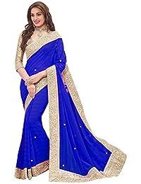 V-Art Designer Gold Lace Saree