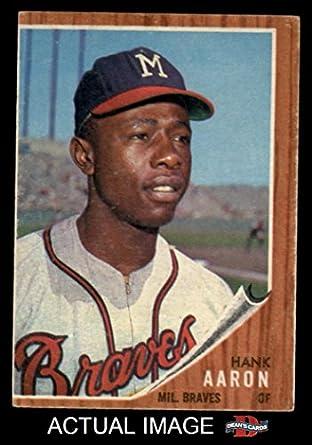 Amazon.com: 1962 Topps # 320 Hank Aaron Milwaukee Braves