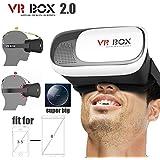 ESTAR Adjust Cardboard 3D VR Virtual Reality Headset 3D Glasses Adjust VR BOX Virtual Reality 3D Glasses For IPhone...