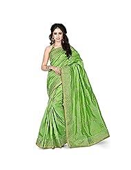 EthnicCrush Green KANCHI SILK & DUPIAN Saree - B011Y7F4AS