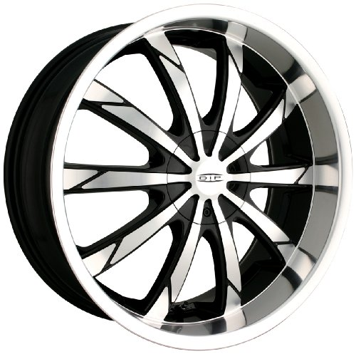DIP Slack D66 Black Wheel with Machined Face and Lip (18×7.5″)
