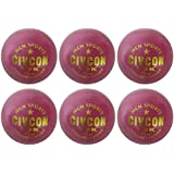MCN Sports Leather Civcon Cricket Ball, Set Of 6 (Red)