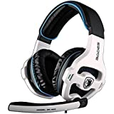 Sades SA903 7.1 Surround Sound USB PC Stereo Gaming Headset With Microphone LED Light (White)