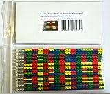 Building Blocks Premium Pencils by MinifigFansTM - 12 Piece Bulk Party Pack