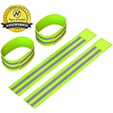 Reflective Ankle Bands 4 Bands 2 Pairs High Visibility And Safety For Jogging Cycling Walking Etc Works As Wristbands...