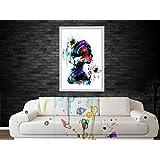 Posters | Posters For Room | Posters For Boys | Poster Art Abtract Girl Art Water Color Digital Poster Art- Improve...