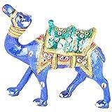 Rajgharana Handicrafts Multi Color Metal Meenakari Delightful Camel - (13 Cm X 10 Cm)