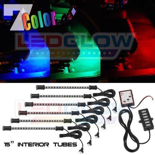 LEDGlow 6pc Expandable 7 Color LED Interior Kit