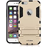 Iphone 6S Case [Kickstand Series] Slim Hybrid Armor Protective Cover Bumper Case For Iphone 6S Gold