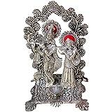 Crafticia Craft Unique Rajasthani Handicraft Oxidised White Metal Spiritual Radha Krishna God Idol / Figurine...