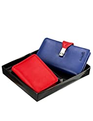Butterflies Combo Wallet (Blue And Red) (BNS C026)