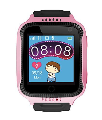 Wayona Kids Tracker Touch screen Smart Wrist Watch with Remote Camera Capture GPS & GSM System with flashlight . (Pink)