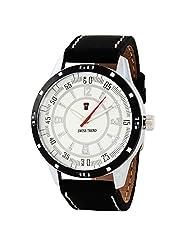 Swiss Trend Stylish Mens Watch With Black Leather Strap(Artshai1648)