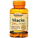 Sundown Niacin, 250 Mg, Time Release, 90 Capsules (Pack Of 3)