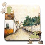 BLN Assorted Works Of Fine Art Collection - Marizy Sainte-Genevieve by Maurice Utrillo - 10x10 Inch Puzzle (pzl_130183_2)