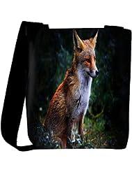 Snoogg Abstract Unique Fox Designer Womens Carry Around Cross Body Tote Handbag Sling Bags