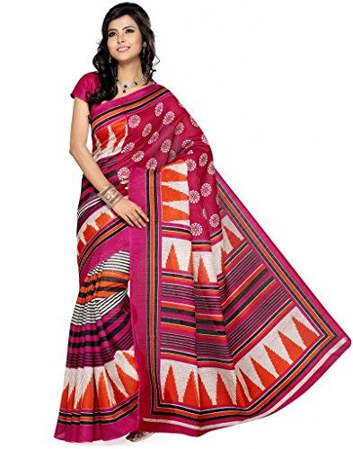 Deepika Saree Art Silk Saree With Blouse - B00PVXR34M