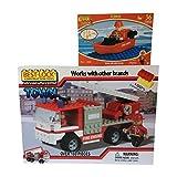 Best-Lock Fire Truck And Firemen Set With Bonus Fire Dept. Boat