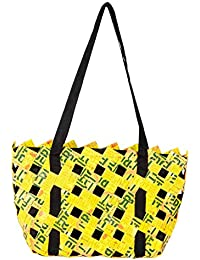 ANULIFE Tetra Pack Papers Yellow Reusable Shopping Bag (000Blalss11)