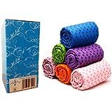 "AngelBeauty© Microfiber Non Skid Yoga Towel With Carry Bag (24""X72"", Coffee), 24""X72""/Coffee"