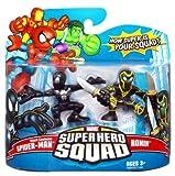 Marvel Superhero Squad Series 10 Mini 3 Inch Figure 2-Pack Spider-Man (Black Costume) and ...
