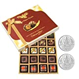 Chocholik Belgium Chocolates - Lovely 20pc Mix Assorted Chocolate Box With 5gm X 2 Pure Silver Coins - Gifts For...