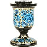 IndianShelf Handmade Light Blue Floral Candle Holder Home Christmas Diwali Decoration