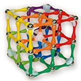 ADVANCED Pack: Rainbow (104 pieces) Goobi Magnetic Construction Set. Contains 56 mixed rainbow color bars, 32 spheres and 16 tripods.