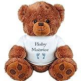 Baby Boy Bear for Maurice: Medium Plush Teddy Bear