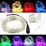 Generic 2M 180 LED Copper Wire Christmas Vines String Fairy Light Waterproof DC12V-pink