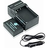 DSTE LP-E17 Battery + DC163 Travel And Car Charger Adapter For Canon EOS M3 750D 760D Rebel T6i T6s 8000D Kiss...