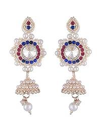 Bel-en-teno Pink & Blue Alloy Earring Set For Women - B00PY9XH1Q