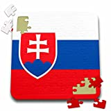 InspirationzStore Flags - Flag of Slovakia - Slovak white blue red stripes - shield coat of arms double cross. Eastern Europe - 10x10 Inch Puzzle (pzl_158429_2)