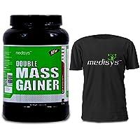 Medisys Double Mass Gainer - Chocolate + Almond & Walnut - 1.5Kg [Free T-shirt]
