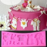 3D Silicone Baby Shower Fondant Decorating Chocolate Baking Mold Tool Cake Mould