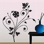 Decals Design 'Floral Design' Wall Sticker (PVC Vinyl, 70 Cm X 50 Cm)