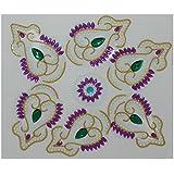 Charu Fashionz Plastic Handcrafted Rangoli (32 Cm X 32 Cm X 0.3 Cm, CER101)