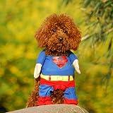 Alfie Couture Pet Apparel - Superhero Costume Superman - Size: XS