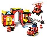 Unico Building Bricks Fire station Duplo compatible 90 pcs