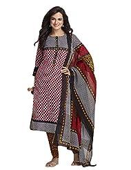AASRI Pure Cotton 3 Piece Unstitched Salwar Suit - B014307BIQ