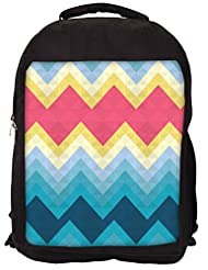 Snoogg Awesome Colour Chevron Backpack Rucksack School Travel Unisex Casual Canvas Bag Bookbag Satchel
