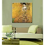 "Tallenge Old Masters Collection - Adele Bloch-Bauer By Gustav Klimt - Large Size Premium Quality Gallery Wrap Canvas Art Print For Home And Office Décor (24""x24"")"