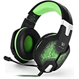ECHTPower(TM) Professional Gaming Headset 3.5mm PC Colorful Breathing LED Light Game Bass Headphones USB Over-ear...