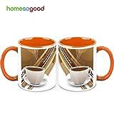 HomeSoGood A Clean Cup Of Coffee In Coffee Mugs White 325 Ml Ceramic (2 Mugs)