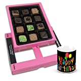 Sparkling Creation Of Pralines Chocolates For Love One With Birthday Mug - Chocholik Belgium Chocolates