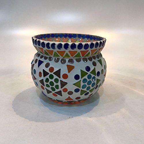 Dlite Crafts Multicolor Polka Design Home Decorative Votive Candle Holder, Set Of 2 PCs - B06XYKB3PW