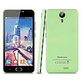 Blackview BV2000S - 5.0'' Smartphone Movil Libre Android 3G (Ips Hd 1280x720P, Quad Core, 8Gb, Dual Sim, 1Gb Ram, Multi-Idioma, Camara 5Mp), Verde