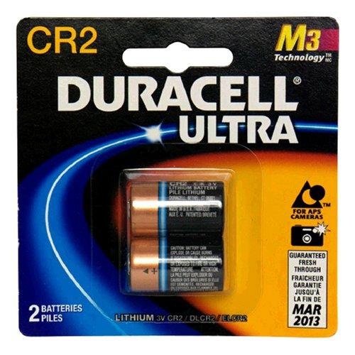 Duracell Ultra Lithium Battery 3V CR2 2 Batteries (Pack Of 2)
